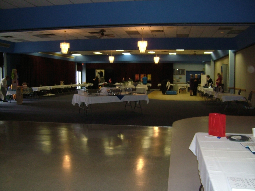 Setup in the hall