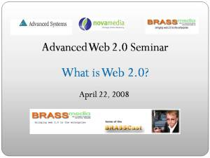 Opening slide for Advanced Systems Web 2.0 Seminar